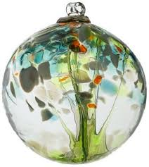 Kitras Art Glass Witch Ball