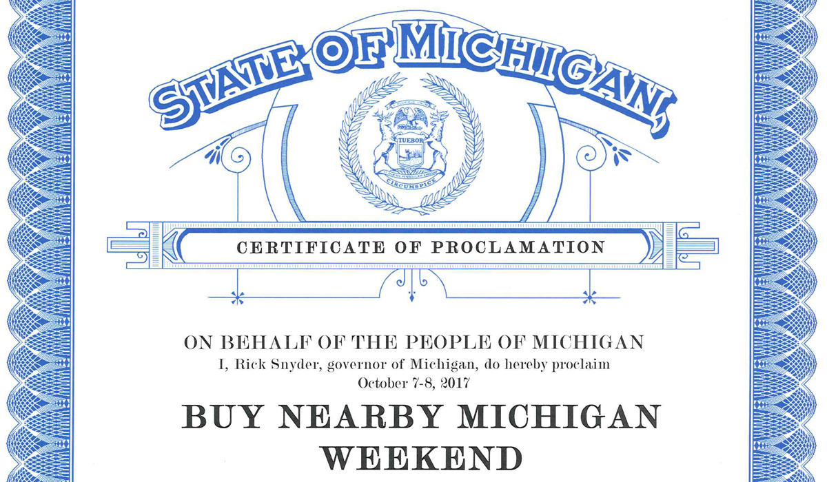 Governor Proclaims Oct. 7-8 As Buy Nearby Weekend In Michigan