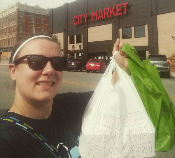 Megan Yagiela's Won Buy Nearby Weekend's Photo Contest In 2017 By Posting This Photo After Her Shopping Trip At The City Market In Bay City.