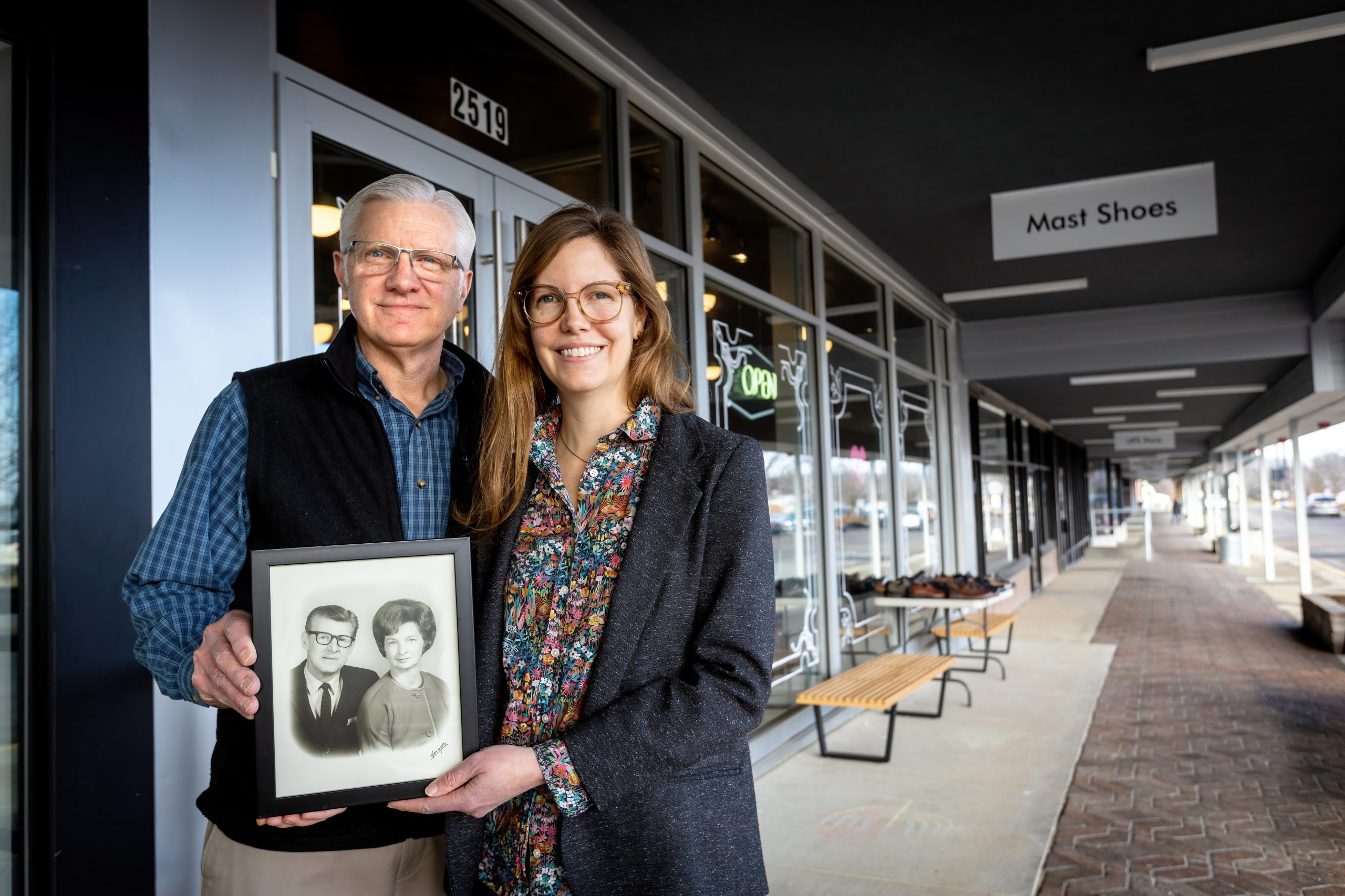 Molly Mast-Koss And Her Father Greg Mast At Their Mast Shoe Store In Ann Arbor. Gary's Father Walter And Mother Helen Mast Founded The Store In 1942.